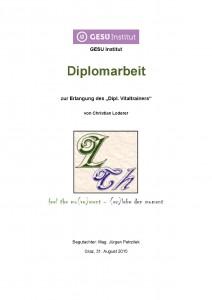 Diplomarbeit Vitaltrainer - Loderer